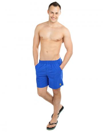Шорты для плавания SolidsШорты плавательные<br>Мужские плавательные шорты на резинке, внутри шнурок. Спереди и сзади карманы. Внутри сетчатые плавки. Ткань Rib-stop позволяет шортам быстро сохнуть. Длина бокового шва 42 см.<br><br>Размер INT: XL<br>Цвет: Синий