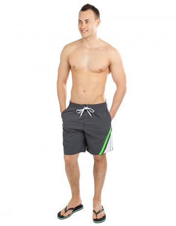Мужские пляжные шорты BREEZEМужские шорты<br>Мужские плавательные шорты на резинке, снаружи шнурок. Карманы в боковых швах и сзади. Внутри сетчатые плавки. Ткань Rib-stop позволяет шортам быстро сохнуть. Длина бокового шва 51 см.<br><br>Размер: XS (28)<br>Цвет: Серый