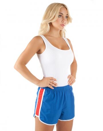 Шорты для плавания RUSШорты плавательные<br>Женские спортивные шорты на резинке. Шнурок в поясе для лучшей фиксации. Внутри сетчатые плавки. Шорты изготовлены из ультра легкой эластичной ткани с водоотталкивающим покрытием. Длина бокового шва 29 см.<br><br>Размер: XS<br>Цвет: Голубой