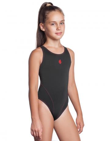 Детский купальник REACTION JuniorЮниорские купальники<br>Купальник слитный с эргономичной спиной Active Back. Модели из светлой ткани спереди на подкладке. Вырез бедра высокий. Серия ткани Training. Идеально подходит для частых тренировок.<br><br>Размер INT: XXS<br>Цвет: Черный