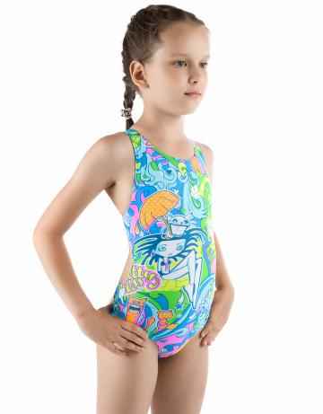 Детский купальник FunkyДетские купальники<br>Купальник спортивный слитный. Создан на основе базовой модели Elen. Эргономичный крой спины дает полную свободу движений. Вырез бедра высокий.<br><br>Размер INT: M<br>Цвет: Голубой