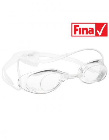 Стартовые очки Liquid RacingСтартовые очки<br>Стартовые очки Mad Wave LIQUID – выбор искушенных профессионалов! Очки сочетают в себе простоту и высокую эффективность для ответственных стартов. Линзы не имеют обтюратора, что обеспечивает жесткую и надежную посадку, а двойной автоматический силиконовый ремешок выполнен из упроченного силикона для дополнительной безопасности и непревзойденного комфорта.<br><br>Все модели стартовых очков LIQUID одобрены федерацией FINA для участия в международных соревнованиях.<br><br><br>ОСОБЕННОСТИ<br><br><br> Система автоматической настройки ремешка - позволяет быстро и надежно зафиксировать очки;<br> Без обтюратора - более жесткая и надежная посадка;<br> Ремешок из упроченного силикона - повышенная безопасность;<br>Защита UV - защита от ультрафиолета;<br>Покрытие Антифог Плюс - усовершенствованная защита от запотевания;<br>Многоступенчатая носовая перемычка - подходят для любого типа лица;<br>FINA approved - очки сертифицированы федерацией FINA для участия в международных соревнованиях.<br><br>Цвет: Прозрачный