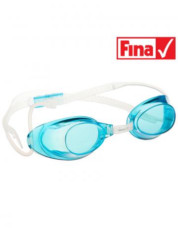 Стартовые очки Liquid RacingСтартовые очки<br>Стартовые очки Mad Wave LIQUID – выбор искушенных профессионалов! Очки сочетают в себе простоту и высокую эффективность для ответственных стартов. Линзы не имеют обтюратора, что обеспечивает жесткую и надежную посадку, а двойной автоматический силиконовый ремешок выполнен из упроченного силикона для дополнительной безопасности и непревзойденного комфорта.<br><br>Все модели стартовых очков LIQUID одобрены федерацией FINA для участия в международных соревнованиях.<br><br><br>ОСОБЕННОСТИ<br><br><br> Система автоматической настройки ремешка - позволяет быстро и надежно зафиксировать очки;<br> Без обтюратора - более жесткая и надежная посадка;<br> Ремешок из упроченного силикона - повышенная безопасность;<br>Защита UV - защита от ультрафиолета;<br>Покрытие Антифог Плюс - усовершенствованная защита от запотевания;<br>Многоступенчатая носовая перемычка - подходят для любого типа лица;<br>FINA approved - очки сертифицированы федерацией FINA для участия в международных соревнованиях.<br><br>Цвет: Голубой