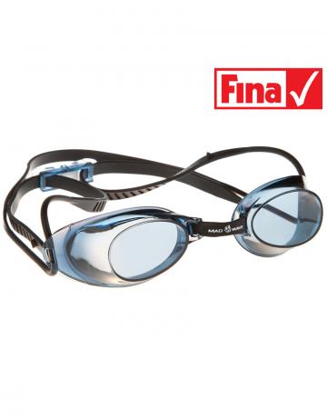 Стартовые очки Liquid RacingСтартовые очки<br>Стартовые очки Mad Wave LIQUID – выбор искушенных профессионалов! Очки сочетают в себе простоту и высокую эффективность для ответственных стартов. Линзы не имеют обтюратора, что обеспечивает жесткую и надежную посадку, а двойной автоматический силиконовый ремешок выполнен из упроченного силикона для дополнительной безопасности и непревзойденного комфорта.<br><br>Все модели стартовых очков LIQUID одобрены федерацией FINA для участия в международных соревнованиях.<br><br><br>ОСОБЕННОСТИ<br><br><br> Система автоматической настройки ремешка - позволяет быстро и надежно зафиксировать очки;<br> Без обтюратора - более жесткая и надежная посадка;<br> Ремешок из упроченного силикона - повышенная безопасность;<br>Защита UV - защита от ультрафиолета;<br>Покрытие Антифог Плюс - усовершенствованная защита от запотевания;<br>Многоступенчатая носовая перемычка - подходят для любого типа лица;<br>FINA approved - очки сертифицированы федерацией FINA для участия в международных соревнованиях.<br><br>Цвет: Черный