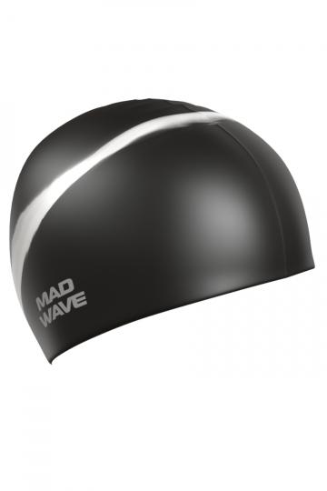 Силиконовая шапочка для плавания Multi Adult BIGСиликоновые шапочки<br>Силиконовая шапочка Mad Wave  Multi Adult BIG  увеличенного объема специально предназначена для людей с большим размером головы и тех, кто испытывает дискомфорт, когда шапочка сильно давит на голову. Изготовлена из высококачественного силикона, который обеспечивает высокую эластичность материала и максимальное удобство при плавании. Надежно защищает волосы от контакта с хлорированной водой, гипоаллергенна, не прилипает к волосам.  Имеет большой выбор расцветок, что дает возможность подобрать шапочку под цвет купальника.<br><br>Размер INT: L<br>Цвет: Черный