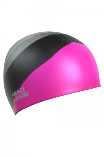 Силиконовая шапочка для плавания Multi Adult BIGСиликоновые шапочки<br>Силиконовая шапочка Mad Wave  Multi Adult BIG  увеличенного объема специально предназначена для людей с большим размером головы и тех, кто испытывает дискомфорт, когда шапочка сильно давит на голову. Изготовлена из высококачественного силикона, который обеспечивает высокую эластичность материала и максимальное удобство при плавании. Надежно защищает волосы от контакта с хлорированной водой, гипоаллергенна, не прилипает к волосам.  Имеет большой выбор расцветок, что дает возможность подобрать шапочку под цвет купальника.<br><br>Размер: L<br>Цвет: Розовый