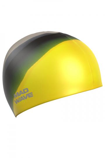 Силиконовая шапочка для плавания Multi Adult BIGСиликоновые шапочки<br>Силиконовая шапочка Mad Wave  Multi Adult BIG  увеличенного объема специально предназначена для людей с большим размером головы и тех, кто испытывает дискомфорт, когда шапочка сильно давит на голову. Изготовлена из высококачественного силикона, который обеспечивает высокую эластичность материала и максимальное удобство при плавании. Надежно защищает волосы от контакта с хлорированной водой, гипоаллергенна, не прилипает к волосам.  Имеет большой выбор расцветок, что дает возможность подобрать шапочку под цвет купальника.<br><br>Размер INT: L<br>Цвет: Желтый