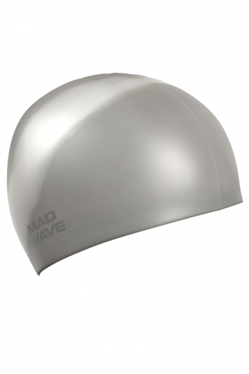 Силиконовая шапочка для плавания Multi Adult BIGСиликоновые шапочки<br>Силиконовая шапочка Mad Wave  Multi Adult BIG  увеличенного объема специально предназначена для людей с большим размером головы и тех, кто испытывает дискомфорт, когда шапочка сильно давит на голову. Изготовлена из высококачественного силикона, который обеспечивает высокую эластичность материала и максимальное удобство при плавании. Надежно защищает волосы от контакта с хлорированной водой, гипоаллергенна, не прилипает к волосам.  Имеет большой выбор расцветок, что дает возможность подобрать шапочку под цвет купальника.<br><br>Размер INT: L<br>Цвет: Серый