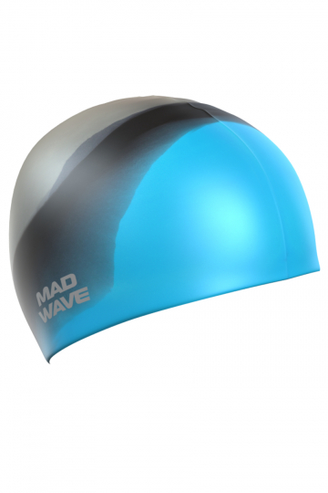 Силиконовая шапочка для плавания Multi Adult BIGСиликоновые шапочки<br>Силиконовая шапочка Mad Wave  Multi Adult BIG  увеличенного объема специально предназначена для людей с большим размером головы и тех, кто испытывает дискомфорт, когда шапочка сильно давит на голову. Изготовлена из высококачественного силикона, который обеспечивает высокую эластичность материала и максимальное удобство при плавании. Надежно защищает волосы от контакта с хлорированной водой, гипоаллергенна, не прилипает к волосам.  Имеет большой выбор расцветок, что дает возможность подобрать шапочку под цвет купальника.<br><br>Размер INT: L<br>Цвет: Голубой