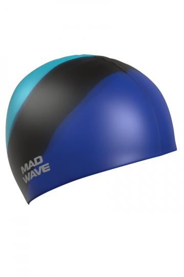 Силиконовая шапочка для плавания Multi AdultСиликоновые шапочки<br>Мультисиликоновая шапочка Mad Wave Multi Adult  изготовлена из высококачественного силикона, который обеспечивает высокую эластичность материала и максимальное удобство при плавании. Надежно защищает волосы от контакта с хлорированной водой, гипоаллергенна, не прилипает к волосам.  Имеет большой выбор расцветок, что дает возможность подобрать шапочку под цвет купальника. Отличается высокой эластичностью, легко надевается,  благодаря чему подходит как взрослым, так и подросткам от 10 лет.<br><br>Цвет: Синий
