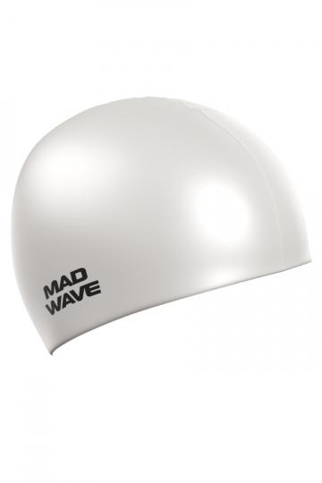 Силиконовая шапочка для плавания Intensive BigСиликоновые шапочки<br>Силиконовая шапочка Mad Wave Intensive Big увеличенного объема специально предназначена для людей с большим размером головы и тех, кто испытывает дискомфорт, когда шапочка сильно давит на голову, изготовлена из высококачественного силикона, который обеспечивает высокую эластичность материала и максимальное удобство при плавании. Имеет большой выбор расцветок, что дает возможность подобрать шапочку под цвет купального костюма.<br><br>Размер INT: L<br>Цвет: Белый