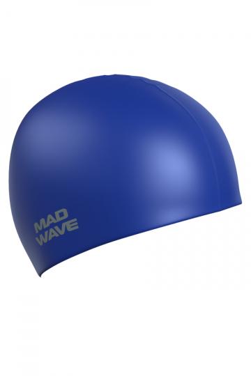 Силиконовая шапочка для плавания Intensive BigСиликоновые шапочки<br>Силиконовая шапочка Mad Wave Intensive Big увеличенного объема специально предназначена для людей с большим размером головы и тех, кто испытывает дискомфорт, когда шапочка сильно давит на голову, изготовлена из высококачественного силикона, который обеспечивает высокую эластичность материала и максимальное удобство при плавании. Имеет большой выбор расцветок, что дает возможность подобрать шапочку под цвет купального костюма.<br><br>Размер INT: L<br>Цвет: Синий