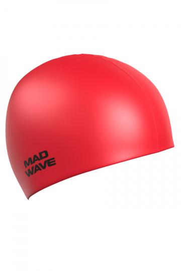 Силиконовая шапочка для плавания Intensive BigСиликоновые шапочки<br>Силиконовая шапочка Mad Wave Intensive Big увеличенного объема специально предназначена для людей с большим размером головы и тех, кто испытывает дискомфорт, когда шапочка сильно давит на голову, изготовлена из высококачественного силикона, который обеспечивает высокую эластичность материала и максимальное удобство при плавании. Имеет большой выбор расцветок, что дает возможность подобрать шапочку под цвет купального костюма.<br><br>Размер INT: L<br>Цвет: Красный