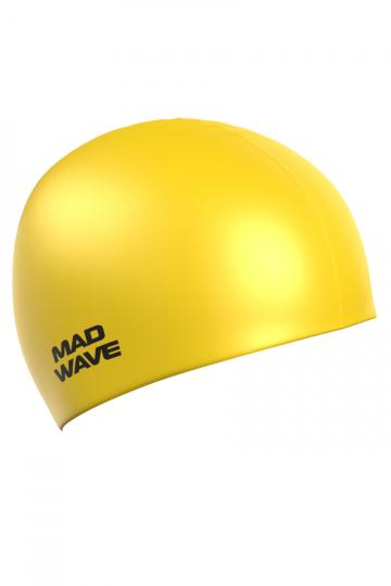 Силиконовая шапочка для плавания Intensive BigСиликоновые шапочки<br>Силиконовая шапочка Mad Wave Intensive Big увеличенного объема специально предназначена для людей с большим размером головы и тех, кто испытывает дискомфорт, когда шапочка сильно давит на голову, изготовлена из высококачественного силикона, который обеспечивает высокую эластичность материала и максимальное удобство при плавании. Имеет большой выбор расцветок, что дает возможность подобрать шапочку под цвет купального костюма.<br><br>Размер INT: L<br>Цвет: Желтый