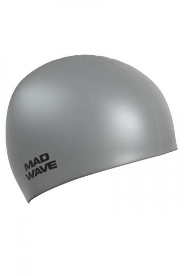 Силиконовая шапочка для плавания Intensive BigСиликоновые шапочки<br>Силиконовая шапочка Mad Wave Intensive Big увеличенного объема специально предназначена для людей с большим размером головы и тех, кто испытывает дискомфорт, когда шапочка сильно давит на голову, изготовлена из высококачественного силикона, который обеспечивает высокую эластичность материала и максимальное удобство при плавании. Имеет большой выбор расцветок, что дает возможность подобрать шапочку под цвет купального костюма.<br><br>Размер INT: L<br>Цвет: Серый