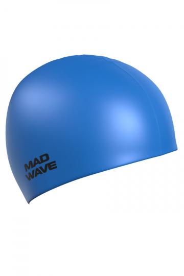 Силиконовая шапочка для плавания Light BIGСиликоновые шапочки<br>Силиконовая шапочка  Mad Wave Light BIG увеличенного объема специально предназначена для людей с большим размером головы, длинными волосами и для тех, кто испытывает дискомфорт, когда шапочка сильно давит на голову. Изготовлена из высококачественного силикона, который обеспечивает высокую эластичность материала и максимальное удобство при плавании. Надежно защищает волосы от контакта с хлорированной водой, гипоаллергенна, не прилипает к волосам. Шапочка имеет насыщенный, яркий цвет, при желании можно подобрать расцветку непосредственно под оттенок купальника или плавок.<br><br>Размер: L<br>Цвет: Синий
