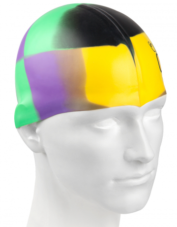 Силиконовая шапочка для плавания Multi JuniorСиликоновые шапочки<br>Мультисиликоновая шапочка Mad Wave Multi Junior  изготовлена из высококачественного силикона, который обеспечивает высокую эластичность материала и максимальное удобство при плавании. Надежно защищает волосы от контакта с хлорированной водой, гипоаллергенна, не прилипает к волосам.  Имеет большой выбор расцветок, что дает возможность подобрать шапочку под цвет купальника. Отличается высокой эластичностью, легко надевается,  благодаря чему подходит как взрослым, так и подросткам от 10 лет.<br><br>Цвет: Черный