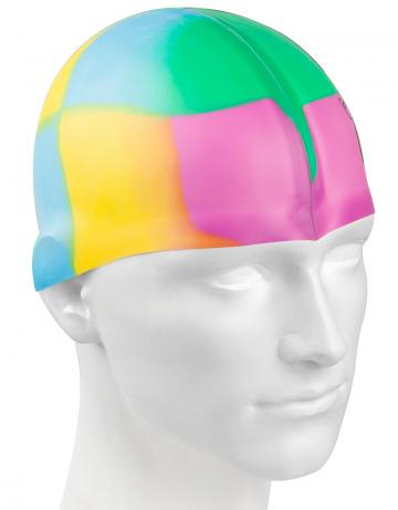 Силиконовая шапочка для плавания Multi JuniorСиликоновые шапочки<br>Мультисиликоновая шапочка Mad Wave Multi Junior  изготовлена из высококачественного силикона, который обеспечивает высокую эластичность материала и максимальное удобство при плавании. Надежно защищает волосы от контакта с хлорированной водой, гипоаллергенна, не прилипает к волосам.  Имеет большой выбор расцветок, что дает возможность подобрать шапочку под цвет купальника. Отличается высокой эластичностью, легко надевается,  благодаря чему подходит как взрослым, так и подросткам от 10 лет.<br><br>Цвет: Голубой