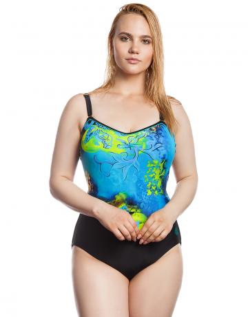 Моделирующий купальник AmberМоделирующие купальники<br>Слитный купальник с открытой спиной. Внутренний пояс под грудью и застежка на спине создают поддерживающий эффект.<br><br>Размер: 5XL<br>Цвет: Синий