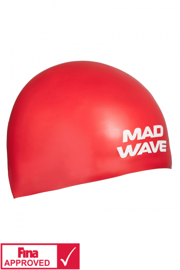 Силиконовая шапочка для плавания SOFTСиликоновые шапочки<br>Силиконовая шапочка Mad Wave SOFT -  3D шапочка с повышенной эластичностью. Очень комфортная, имеет гладкую, приятную на ощупь поверхность. Плотно облегает голову, не оказывая излишнего давления, не пропускает воду, легко надевается и снимается, имеет специальную 3D форму, гарантирующую идеальную посадку без образования складок. Надежно защищает волосы от промокания и воздействия хлора. Отлично подходит для тренировок и соревнований. Данная модель имеет 3 размера. Сертифицирована международной федерацией плавания.<br><br>Размер INT: M<br>Цвет: Красный