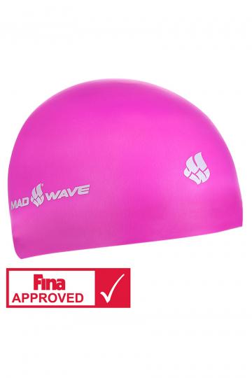 Силиконовая шапочка для плавания SOFTСиликоновые шапочки<br>Силиконовая шапочка Mad Wave SOFT -  3D шапочка с повышенной эластичностью. Очень комфортная, имеет гладкую, приятную на ощупь поверхность. Плотно облегает голову, не оказывая излишнего давления, не пропускает воду, легко надевается и снимается, имеет специальную 3D форму, гарантирующую идеальную посадку без образования складок. Надежно защищает волосы от промокания и воздействия хлора. Отлично подходит для тренировок и соревнований. Данная модель имеет 3 размера. Сертифицирована международной федерацией плавания.<br><br>Размер INT: S<br>Цвет: Розовый