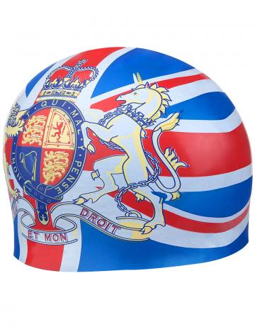 Силиконовая шапочка для плавания ENGLANDСиликоновые шапочки<br>Силиковая шапочка с национальной символикой. Подходит для взрослых людей и подростков от 10-11 лет.<br><br>Размер: None<br>Цвет: Голубой