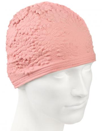 Латексная шапочка для плавания Hawaii ChrysantЛатексные шапочки<br>Латексная женская шапочка с цветочным дизайном<br><br>Цвет: Бледно-розовый