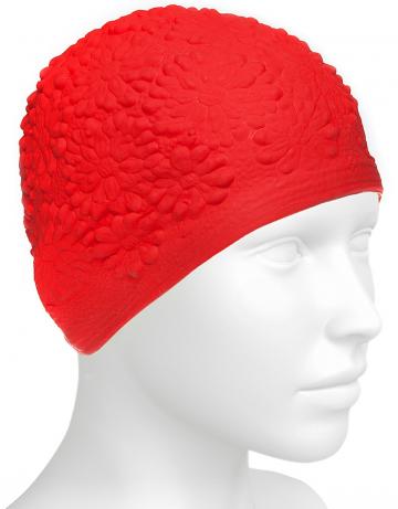 Латексная шапочка для плавания Hawaii ChrysantЛатексные шапочки<br>Латексная женская шапочка с цветочным дизайном<br><br>Цвет: Синий