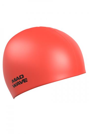Силиконовая шапочка для плавания Neon Silicone SolidСиликоновые шапочки<br>Силиконовая шапочка Mad Wave  Neon Silicone Solid - универсальная, модная, яркая шапочка в сочных неоновых цветах, многообразие которых помогает каждому подобрать для себя подходящий вариант, гармонично комбинируя его с купальником или плавками. <br>Эта модель подойдет абсолютно каждому пловцу вне зависимости от размера его головы, пола или уровня мастерства, она отличается высокой эластичностью, легко надевается,  благодаря чему подходит как взрослым так и подросткам от 10 лет. Плавать в этой шапочке - сплошное удовольствие: она прочная и практически не ощутима на голове. Все это благодаря использованию силикона - очень прочного, эластичного и износостойкого материала. Волосы в шапочке надежно защищены от влаги и хлора, поэтому вы можете быть совершенно спокойны за их здоровье.<br><br>Размер: None<br>Цвет: Красный