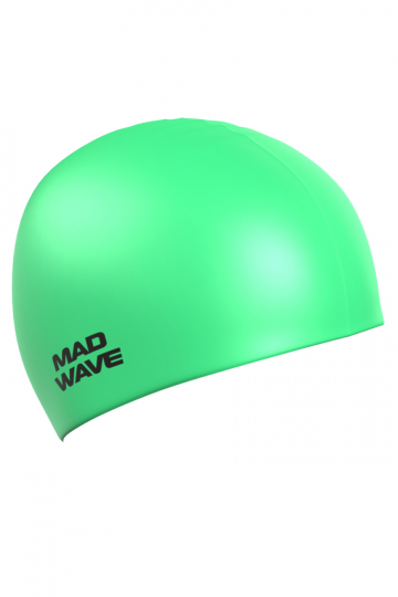 Силиконовая шапочка для плавания Neon Silicone SolidСиликоновые шапочки<br>Силиконовая шапочка Mad Wave  Neon Silicone Solid - универсальная, модная, яркая шапочка в сочных неоновых цветах, многообразие которых помогает каждому подобрать для себя подходящий вариант, гармонично комбинируя его с купальником или плавками. <br>Эта модель подойдет абсолютно каждому пловцу вне зависимости от размера его головы, пола или уровня мастерства, она отличается высокой эластичностью, легко надевается,  благодаря чему подходит как взрослым так и подросткам от 10 лет. Плавать в этой шапочке - сплошное удовольствие: она прочная и практически не ощутима на голове. Все это благодаря использованию силикона - очень прочного, эластичного и износостойкого материала. Волосы в шапочке надежно защищены от влаги и хлора, поэтому вы можете быть совершенно спокойны за их здоровье.<br><br>Цвет: Зеленый