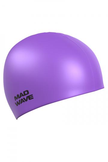 Силиконовая шапочка для плавания Neon Silicone SolidСиликоновые шапочки<br>Силиконовая шапочка Mad Wave  Neon Silicone Solid - универсальная, модная, яркая шапочка в сочных неоновых цветах, многообразие которых помогает каждому подобрать для себя подходящий вариант, гармонично комбинируя его с купальником или плавками. <br>Эта модель подойдет абсолютно каждому пловцу вне зависимости от размера его головы, пола или уровня мастерства, она отличается высокой эластичностью, легко надевается,  благодаря чему подходит как взрослым так и подросткам от 10 лет. Плавать в этой шапочке - сплошное удовольствие: она прочная и практически не ощутима на голове. Все это благодаря использованию силикона - очень прочного, эластичного и износостойкого материала. Волосы в шапочке надежно защищены от влаги и хлора, поэтому вы можете быть совершенно спокойны за их здоровье.<br><br>Размер: None<br>Цвет: Фиолетовый
