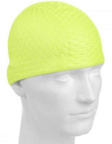 Силиконовая шапочка для плавания Silicone BubbleСиликоновые шапочки<br>Силиконовая шапочка с дополнительным объёмом для длинных волос сзади. Пузырьковая поверхность уменьшает площадь соприкосновения с волосами.<br><br>Цвет: Желтый