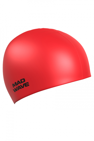 """Силиконовая шапочка для плавания Metal Silicone SolidСиликоновые шапочки<br>Силиконовая шапочка Mad Wave Metal Silicone Solid  изготовлена из высококачественного силикона, который обеспечивает высокую эластичность материала и максимальное удобство при плавании. Надежно защищает волосы от контакта с хлорированной водой, гипоаллергенна, не прилипает к волосам.  Имеет яркие цвета с эффектом """"металлик"""". Отличается высокой эластичностью, легко надевается,  благодаря чему подходит как взрослым, так и подросткам от 10 лет.<br><br>Цвет: Красный"""