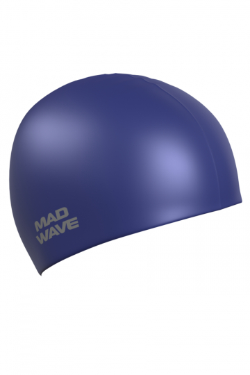 """Силиконовая шапочка для плавания Metal Silicone SolidСиликоновые шапочки<br>Силиконовая шапочка Mad Wave Metal Silicone Solid  изготовлена из высококачественного силикона, который обеспечивает высокую эластичность материала и максимальное удобство при плавании. Надежно защищает волосы от контакта с хлорированной водой, гипоаллергенна, не прилипает к волосам.  Имеет яркие цвета с эффектом """"металлик"""". Отличается высокой эластичностью, легко надевается,  благодаря чему подходит как взрослым, так и подросткам от 10 лет.<br><br>Цвет: Синий"""