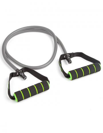Фитнес тренажер Resistance cordФитнес инвентарь<br>Эластичный тренажер для фитнеса . Предлагается в трех вариантах жесткости. <br>длина - 148 см<br><br>Размер INT: M<br>Цвет: Серый
