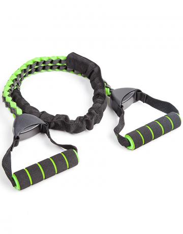 Фитнес тренажер Power resistance cordФитнес инвентарь<br>Эластичный мощный тренажер для формирования мышц груди, рук , пресса и ног.<br><br>Цвет: Черный