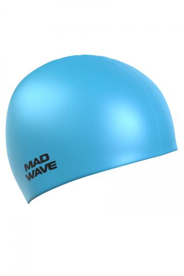 Силиконовая шапочка для плавания Light Silicone SolidСиликоновые шапочки<br>Силиконовая шапочка  Mad Wave Light BIG увеличенного объема специально предназначена для людей с большим размером головы, длинными волосами и для тех, кто испытывает дискомфорт, когда шапочка сильно давит на голову. Изготовлена из высококачественного силикона, который обеспечивает высокую эластичность материала и максимальное удобство при плавании. Надежно защищает волосы от контакта с хлорированной водой, гипоаллергенна, не прилипает к волосам. Шапочка имеет насыщенный, яркий цвет, при желании можно подобрать расцветку непосредственно под оттенок купальника или плавок.<br><br>Размер: None<br>Цвет: Голубой