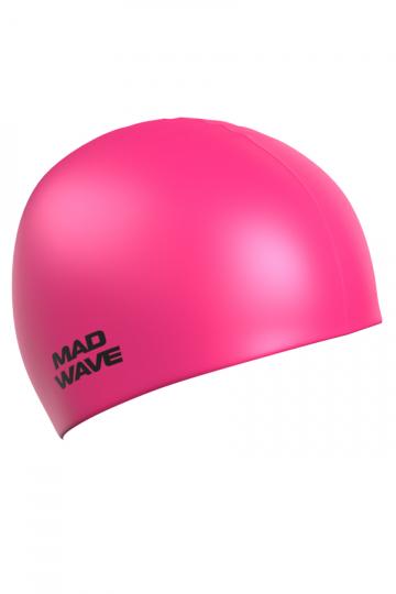 Силиконовая шапочка для плавания Light Silicone SolidСиликоновые шапочки<br>Силиконовая шапочка  Mad Wave Light BIG увеличенного объема специально предназначена для людей с большим размером головы, длинными волосами и для тех, кто испытывает дискомфорт, когда шапочка сильно давит на голову. Изготовлена из высококачественного силикона, который обеспечивает высокую эластичность материала и максимальное удобство при плавании. Надежно защищает волосы от контакта с хлорированной водой, гипоаллергенна, не прилипает к волосам. Шапочка имеет насыщенный, яркий цвет, при желании можно подобрать расцветку непосредственно под оттенок купальника или плавок.<br><br>Цвет: Розовый