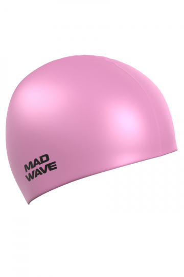 Силиконовая шапочка для плавания Pastel Silicone SolidСиликоновые шапочки<br>Силиконовая шапочка Mad Wave Pastel Silicone Solid изготовлена из высококачественного 100% силикона. Отличается высокой эластичностью, легко надевается,  благодаря чему подходит как взрослым так и подросткам от 10 лет. Плотно облегает голову, оставляя волосы относительно сухими, при этом не электризует волосы, не тянет и не выдирает их, поэтому прекрасно подходит и для тех, кто имеет длинные волосы. Надежно защищает волосы и кожу головы от воздействия хлорированной воды в бассейне, обеспечивает безопасность во время плавания, защищая от попадания волос в глаза и под детали очков или купальника. Она сохраняет цвет, форму и высокую эластичность на протяжении всего срока службы. Приглушенные пастельные тона подойдут для людей ценящих простоту и спокойствие.<br><br>Цвет: Бледно-розовый