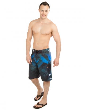Мужские пляжные шорты CRYМужские шорты<br>Шорты серфовые без боковых швов на шнуровке. На задней детали прорезной карман. Шнурки с силиконовой полосой создают лучшую фиксацию узла. Длина бокового шва 55 см.<br><br>Размер: S (30)<br>Цвет: Черный