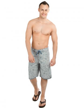 Мужские пляжные шорты TUBOМужские шорты<br>Шорты серфовые без боковых швов на шнуровке. На задней детали прорезной карман. Асимметричный крой. Длина бокового шва 55 см.<br><br>Размер: M (32)<br>Цвет: Серый