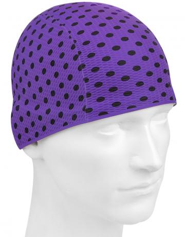 Латексная шапочка для плавания Print BubbleЛатексные шапочки<br>Латексная шапочка с рисунком<br><br>Цвет: Фиолетовый
