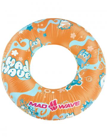 Надувной круг для плавания MAD BUBBLES RINGКруги надувные<br>Надувной круг 50 см. Надежный текстурированный ПВХ. Большой удобный и надежный клапан. Прошел европейский тест на безопасность EN 71.<br><br>Размер: 500 mm<br>Цвет: Оранжевый