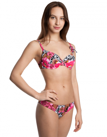 Женский пляжный купальник SymphonyПляжные купальники<br>Раздельный купальник. Лиф - формованная чашка на каркасах. Трусики с заниженной талией.<br><br>Размер: 42D<br>Цвет: Розовый