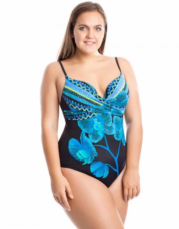 Женский пляжный купальник ValeryПляжные купальники<br>Слитный купальник. Лиф - стачная поролоновая чашка на каркасах. На спине фирменная застежка. Купальник декорирован драпировкой.<br><br>Размер: 40D<br>Цвет: Синий