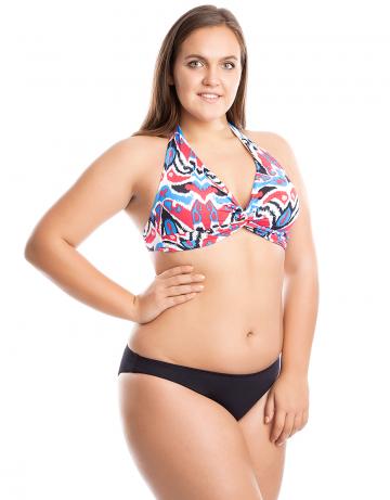 Женский пляжный купальник Shangri-LaПляжные купальники<br>Раздельный купальник. Лиф - формованная чашка, декорирован драпировкой. трусики с заниженной талией.<br><br>Размер: 38C<br>Цвет: Черный