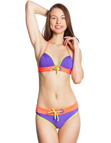 Женский пляжный купальник Pulse TopПляжные купальники<br>Лиф - поролоновая стачная чашка. Декорирован вышивкой и шнурком. С этой моделью приобретают трусики Pulse. Модели продаются только в комплекте. Стоимость указана только за лиф.<br><br>Размер: 38<br>Цвет: Фиолетовый