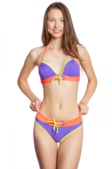 Женский пляжный купальник Pulse BottomПляжные купальники<br>Трусики средней высоты с поясом. Декорированы вышивкой и<br>шнурком. С этой моделью приобретают лиф Pulse. Модели продаются только в комплекте. Стоимость указана только за трусики.<br><br>Размер: 42<br>Цвет: Фиолетовый