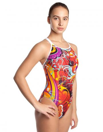 Спортивный купальник для плавания MOLECULARСпортивные купальники<br>Купальник слитный с формой спины Cross Back и двойными бретелями. Вырез бедра средний. Подходит как для спортивных тренировок, так и для отдыха.<br><br>Размер: XL<br>Цвет: Разноцветный
