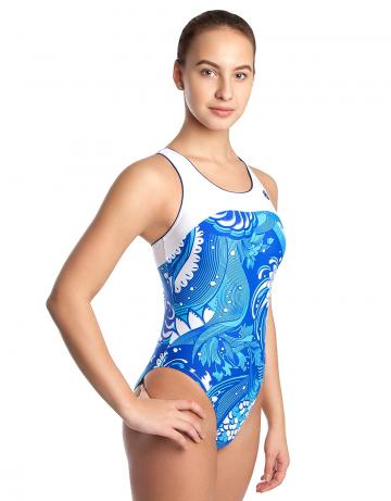 Спортивный купальник для плавания RATEСпортивные купальники<br>Купальник слитный с формой спины Team Back. Декорирован кантом. Эргономичный крой спины. Вырез бедра высокий. Подходит для спортивных тренировок, так и для отдыха.<br><br>Размер: L<br>Цвет: Синий